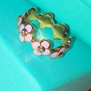 Henri bendel rose gold lilac flower ring